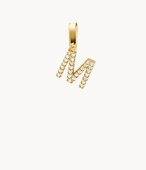 Michael Kors Women's 14k Gold-plated Sterling Silver Letter M Charm