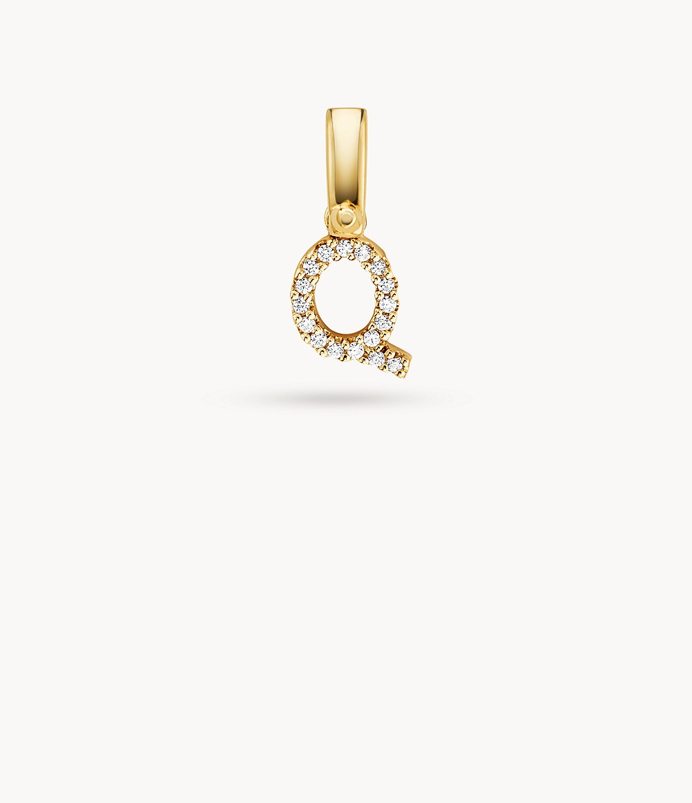 Michael Kors Women's 14k Gold-plated Sterling Silver Letter Q Charm - MKC1095AN710 - Watch Station