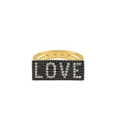 """Michael Kors 14k Gold-Plated Sterling Silver """"Love"""" Plaque Ring - MKC1162AX931001 - Watch Station"""
