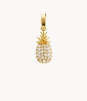 Michael Kors 14k Gold-Plated Sterling Silver Pave Pineapple Charm