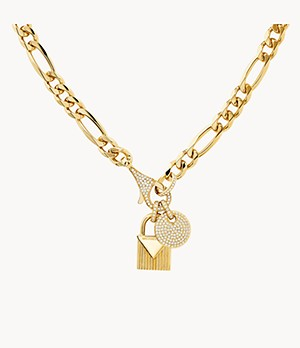 Michael Kors Mercer Link 14k Gold-Plated Sterling Silver Statement Necklace