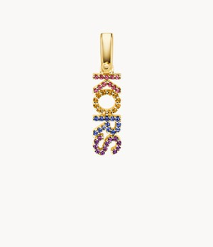 Michael Kors 14K Gold-Plated Sterling Silver Rainbow Pavé Charm