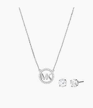 Michael Kors Sterling Silver Necklace Box Set
