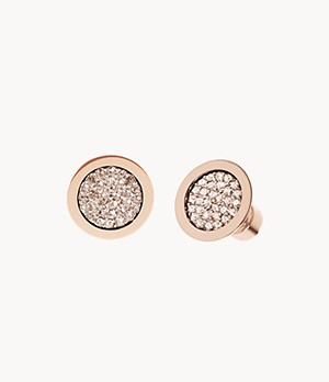 Michael Kors Rose Gold-Tone Pavé Stud Earrings