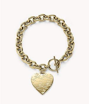 Gold-Tone Signature Heart Bracelet