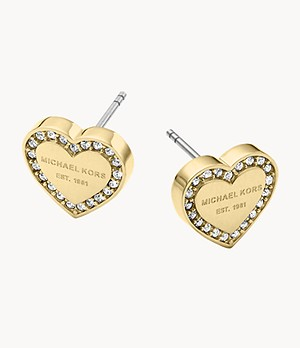 Gold-Tone Signature Heart Earrings