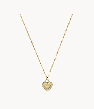 Gold-Tone Logo Heart Necklace