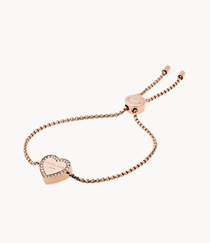 Logo Rose Gold-Tone Slider Bracelet