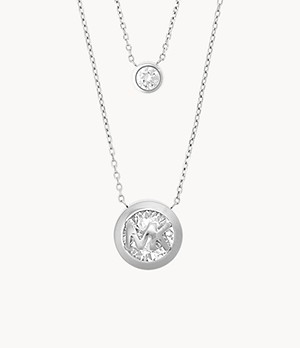 Michael Kors Silver Stainless Steel Necklace