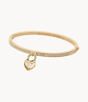 Logo Love Gold-Tone Hinged Bracelet