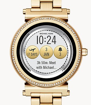 Michael Kors Access Sofie Gold-Tone Touchscreen Smartwatch