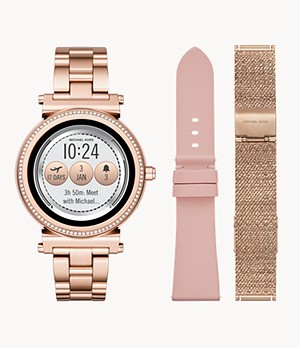 REFURBISHED Michael Kors Sofie Rose Gold-Tone Touchscreen Smartwatch