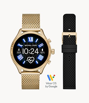 Gen 5 Lexington Smartwatch – Gold-Tone with Strap Set