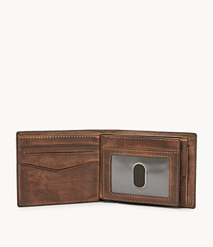 Derrick RFID Large Coin Pocket Bifold