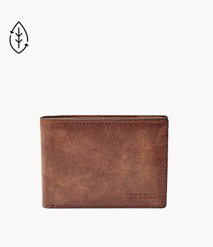 Mens wallet.Compact wallet.leather wallet.2 in 1 wallet.RFID wallet