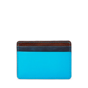 Fossil Leon Card Case (Blue or Green)