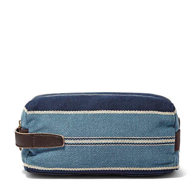 Stripe Single Zip Travel Kit