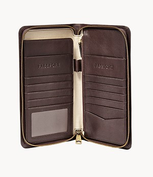 Herren Passhülle - Multi-zip Passport Case