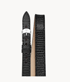 12mm Black Lizard Double-Wrap Strap