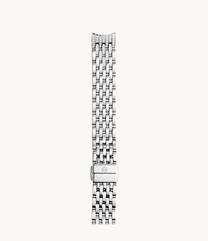 14mm Sidney Classic 7-Link Taper Stainless Steel Bracelet with Diamonds