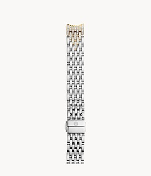 14mm Sidney Classic 7-Link Taper Two-Tone Bracelet with Diamonds