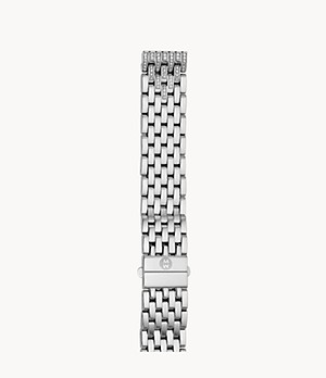 16mm Deco 16 7-Link Taper Steel Bracelet with Diamonds