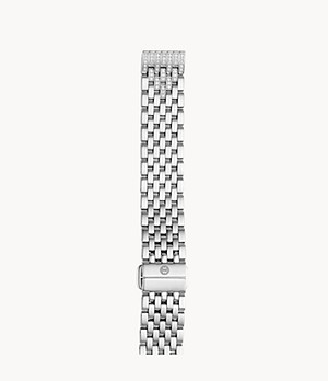 16mm Deco II Mid Diamond Taper Stainless-Steel Seven-Link Bracelet