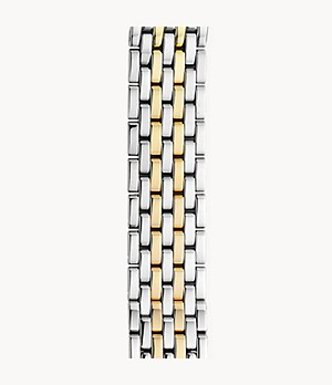 18mm Deco Seven-Link Two-Tone 18K Gold Bracelet