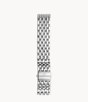 18mm Deco Seven-Link Taper Steel Bracelet with Diamonds