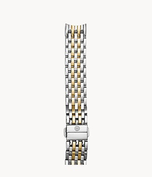 18mm Sidney Two-Tone 18K Gold Seven-Link Bracelet