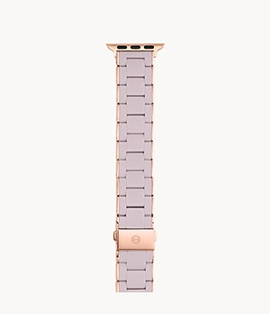 38/40mm Lilac and Pink Gold-Tone Silicone-Wrapped Bracelet Band for Apple Watch®
