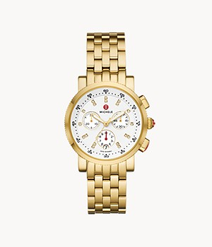 Sport Sail 18k Gold Plated Diamond Dial Watch