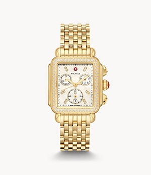 Deco 18k Gold Diamond Watch