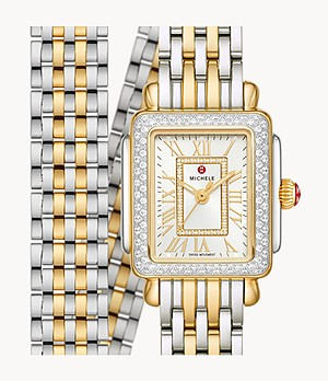 Deco Madison Mini Two-Tone 18k Gold Diamond Watch