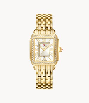Deco Madison Mid 18K Gold Diamond Watch