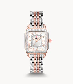 Deco Madison Mid Two-Tone 18K Pink Gold Diamond Watch