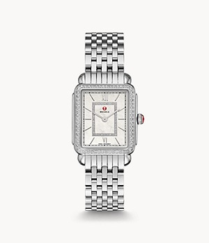 Deco II Mid Stainless Diamond Watch