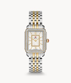 Deco II Mid Two-Tone 18K Gold Diamond Watch