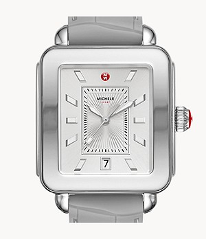 Deco Sport Stainless and Light Grey Watch