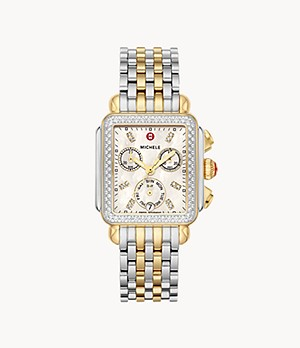 Deco Two-Tone 18K Diamond Watch