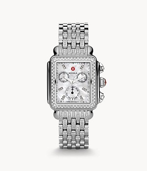 Deco Stainless Diamond and Diamond Bracelet Watch