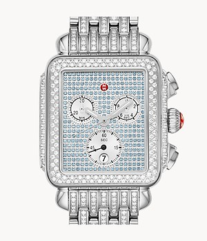 Limited-Edition Deco Stainless Pavé Sapphire and Diamond Watch