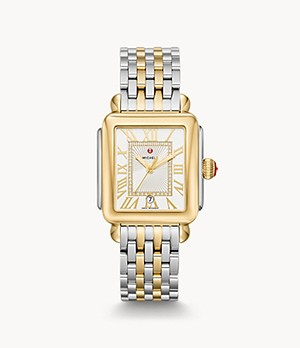 Deco Madison Two-Tone 18K Gold Diamond Dial Watch