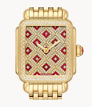 Deco Chateau Gold Diamond Watch