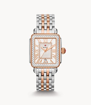 Deco Madison Two-Tone 18K Pink Gold Diamond Watch