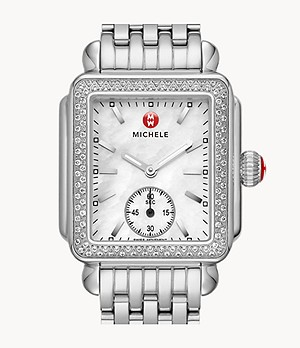 Deco Mid Stainless Diamond Watch