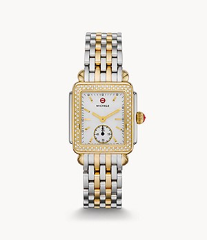 Deco Mid Two-Tone 18K Gold Diamond Watch