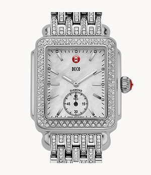 Deco Mid Diamond and Taper Diamond Bracelet Watch
