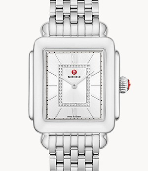 Deco II Stainless Diamond Dial Watch