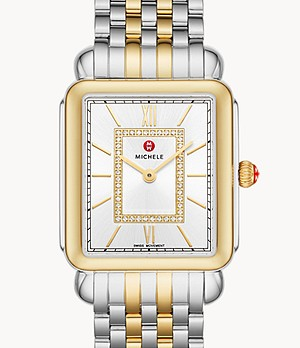 Deco II Two-Tone 18k Gold Diamond Dial Watch